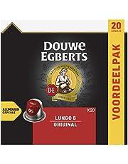 Douwe Egberts Koffiecups Lungo Original (200 Capsules, Geschikt voor Nespresso* Koffiemachines, Intensiteit 06/12, Medium Roast Koffie, UTZ Gecertificeerd), 10 x 20 Cups