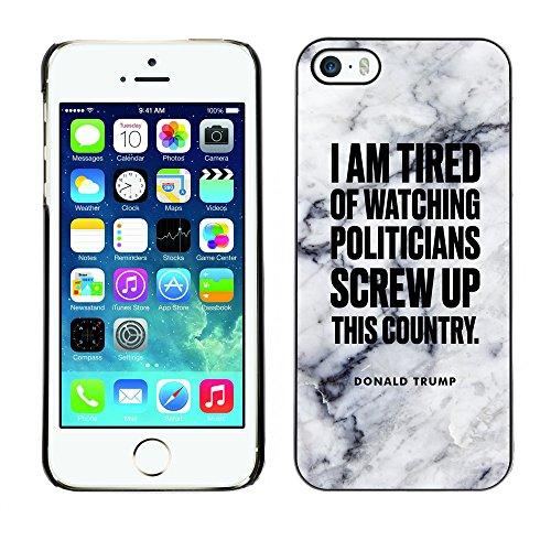 Print Motif Coque de protection Case Cover // Q04080522 Président Donald Trump marbre // Apple iPhone 5 5S 5G