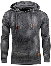 Men's Casual Pullover Hoodies Long Sleeve Hooded Sweatshirt