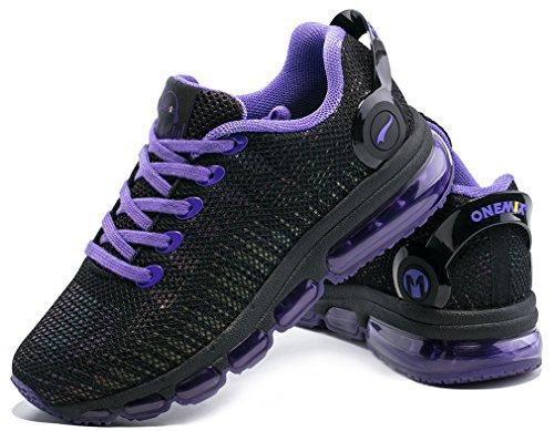 Gimnasio De Para Zapatillas Negro Mujer púrpura Correr Deporte Onemix qTwOFzZa
