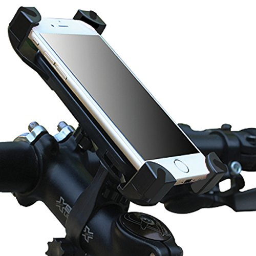 Universal Bike Phone Mount Holder for Bicycle Handlebar Cell Protection – Great for Dirt Motorcycle Road Exercise Bicycles – Fits All Smartphones Including iPhone Plus Android Galaxy with Case
