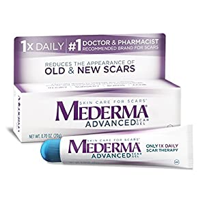 Mederma Advanced Scar Gel - 1x Daily - Reduces the Appearance of Old & New Scars - #1 Doctor & Pharmacist Recommended Brand for Scars – 0.7 oz.