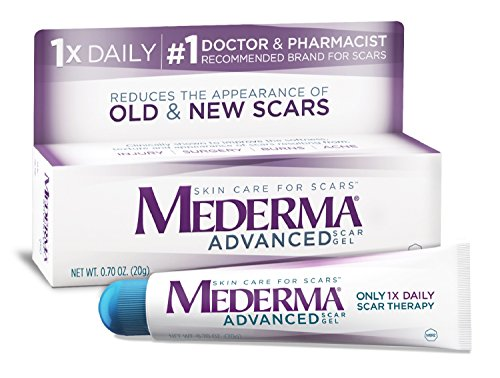 Mederma Advanced Scar Gel   1X Daily   Reduces The Appearance Of Old   New Scars    1 Doctor   Pharmacist Recommended Brand For Scars   0 7 Oz