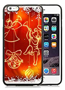 Personalized iPhone 6 Plus Case,Merry Christmas Black iPhone 6 Plus 5.5 TPU Case 54