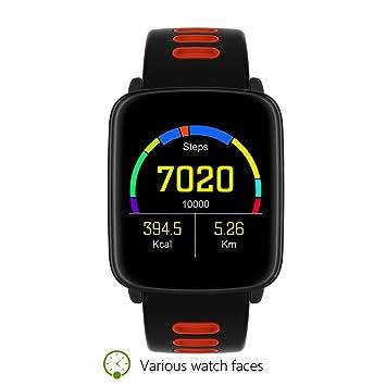 Pulsómetros Reloj Deportivo,Monitores de actividad,Smartband Fitness Sports Pulsera deportivo Reloj,Pantalla Táctil OLED,Alarma de Control,Pulsera ajustable ...