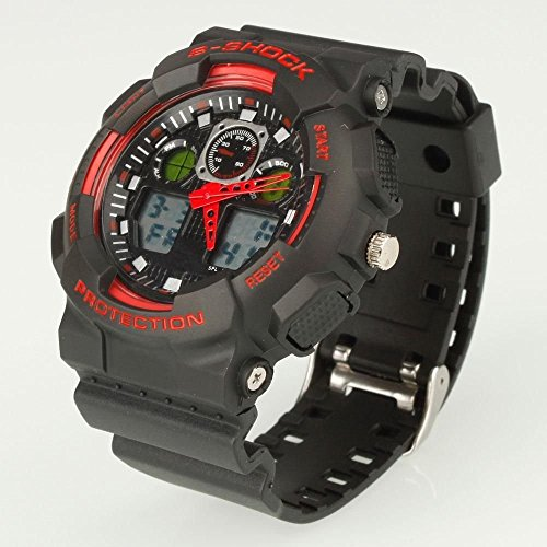 New Mens AK1055 Fashion Multifunction Waterproof Sport Diving Wrist Watch Red by kwanchan