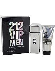 Carolina Herrera (CA4AW) 212 VIP Eau de Toilette Spray with Shower Gel Gift Set for Men, Pack of 2