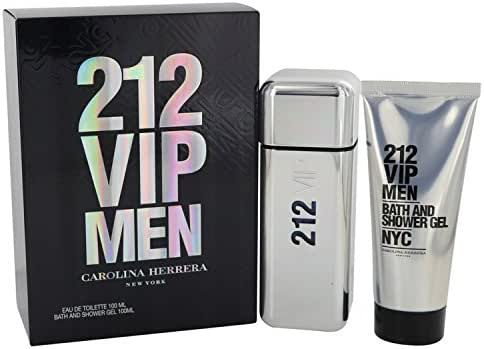 Carolina Herrera 212 Vip Gift Set 3.4 oz Eau De Toilette Spray + 3.4 oz Shower Gelf or Men