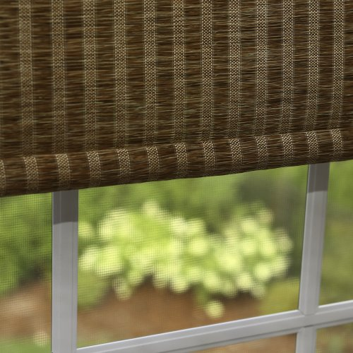 Best Home Fashion Premium Single Roller Window Shade – Brown – 34″ W x 64″ L