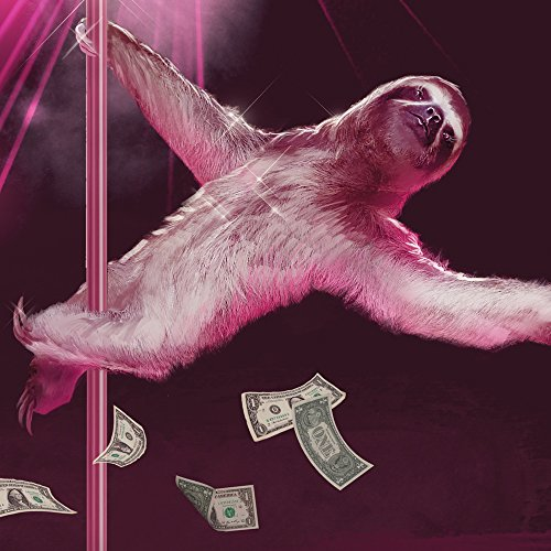 Sharp Shirter Funny Sloth Poster Sexy Wall Art Stripping Slothzilla Unframed Print Gag Gift for Home Decor 18x24 Inches ()