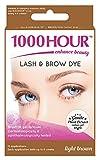 1000 Hour Eyelash & Brow Dye / Tint Kit Permanent MascaraNatural Gentle Plant Extract (Light Brown)