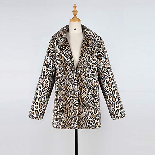 Sexy Impresión Cálido Larga Viento Abrigo De Capa Mujeres Invierno Cardigan Caqui Leopardo Strir FqzC1EwIxn