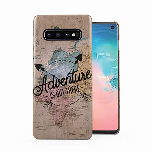 Exploring World Map Travel Trip Adventure is Out There Wanderlust Plastic Phone Snap On Back Case Cover Shell for Samsung Galaxy S10 Plus