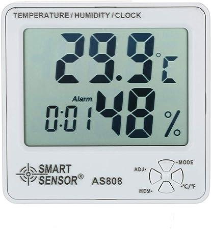 Numérique Humidité Température Mètre Avec Réveil Hygromètre Météo Gauge