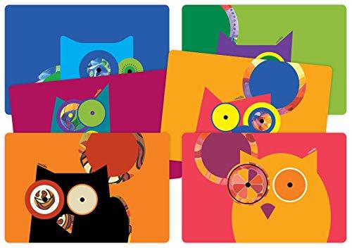 Designer Placemats Crazy Owls Set product image
