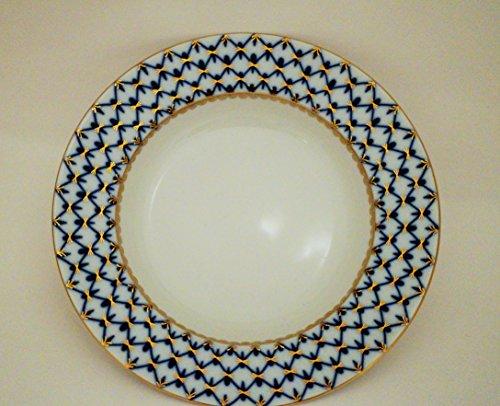 Lomonosov Porcelain Cobalt Net Soup Dish 8 3/4