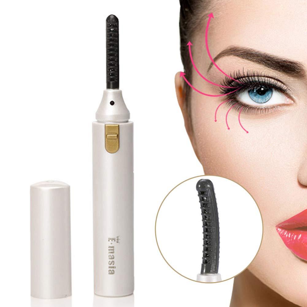 3bb771e7409 Heated Eyelash Curler,Mini Electric Eyelash Curler Brush,Eyelash Curler  with Comb Long Lasting