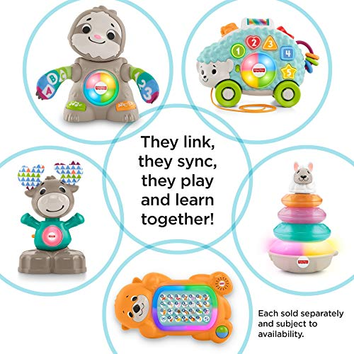 51E8MdjpfBL - Fisher-Price Linkimals Smooth Moves Sloth - Interactive Educational Toy with Music, Lights, and Motion for Baby Ages 9 Months & Up