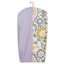 Sweet Potato Fiona Diaper Stacker, Purple/White/Grey/Yellow