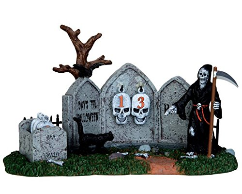Lemax 43102 Grim Reaper Countdown Spooky Town Table Accent Halloween Decor Village -