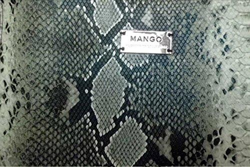 Sac cabas SERPENT MANGO, sac à main cuir, sac femme tendance - Marone