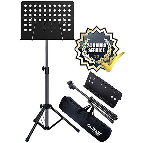GLEAM Conductor Sheet Folding Music Stand With 5mm Padding Carrying Bag ()