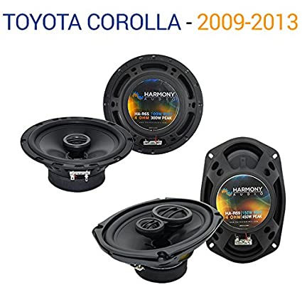 "1 Pair Front Speaker Adapters For Toyota Kenwood KFC-1665S 6.5/"" Speakers"