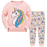Hugbug Girls Pajamas with Unicorn for Toddler and Kid Girls 5T