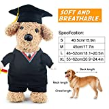 Funny Bachelor Dog Cat Pet Clothes Arms Gog Cat Costumes With Hat for Daily Halloween Christmas Party (XL)