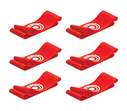 Unique Sports 12 Hot Spots Red Soccer Hot Spots Shoe Lace Cover - 6 Pair