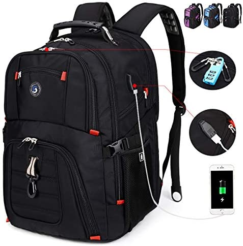 SOLDIERKNIFE Extra Large Durable 50L Travel Laptop Backpack School Backpack Travel Backpack College Bookbag