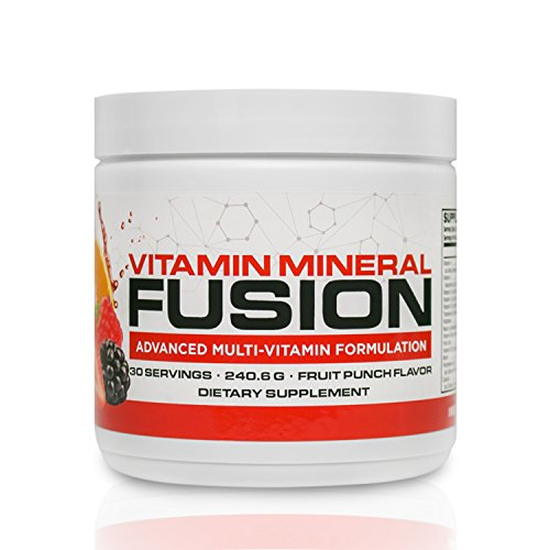 Vitamin Mineral Fusion  30 Servings  Fruit Punch    Platinum Multivitamin Powder Mix   34 Essential Vitamins  Minerals  Amino Acids To Boost Immunity   Energy