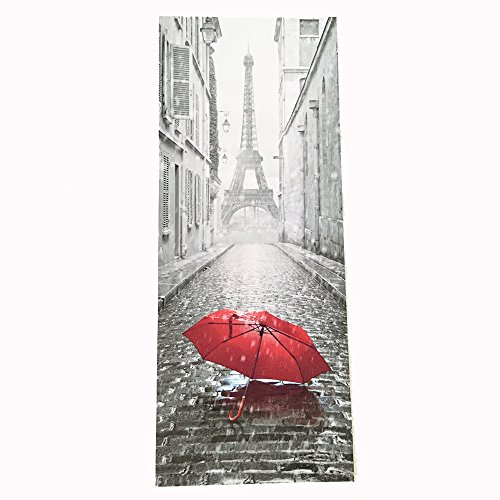 Alalaso 3D Door Sticker Paris Eiffel Tower Waterproof Decal Wall Home Decor Wallpaper -