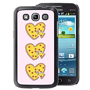 A-type Arte & diseño plástico duro Fundas Cover Cubre Hard Case Cover para Samsung Galaxy Win I8550 (Pizza I Love Food Yellow Pink Heart)