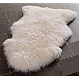 Safavieh Sheep Skin Collection SHS121A Handmade White Area Rug, 2 feet by 3 feet (2' x 3')