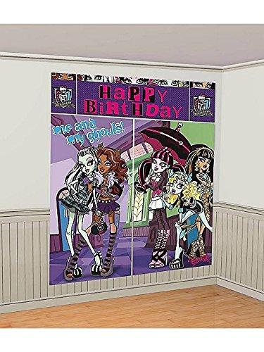 Amscan Monster High Scene Setter Birthday Party Decorating Kit (5 Pack), 59