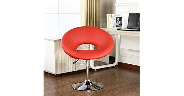 Stupendous Roundhill Furniture Contemporary Chrome Adjustable Swivel Bralicious Painted Fabric Chair Ideas Braliciousco