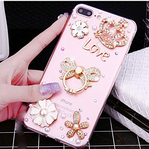 iPhone 11 Bling Diamond Case, Ring Holder Gem Stone Rhinestone Stone Jewelled Clear TPU Case for iPhone 11 6.1-inch (D3) (Iphone 3 Jeweled Case)