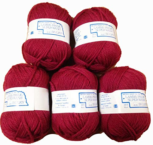 - Yarn Place Brown Sheep Yarn Lambs Pride Superwash Bulky Frosted Fuchsia 4 skeins - 1st Quality -