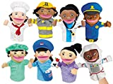 Lakeshore Let's Talk Community Helpers Puppets - Set of 8