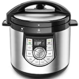 steamer for cake - 12-in-1 Pressure Cooker - Elechomes 1000 W 6 Qt Multi-use Programmable Electric Pressure Cooker, Slow Cooker, Rice Cooker, Yogurt Maker, Cake Maker, Egg Cooker, Saute Steamer, Warmer, and Sterilizer