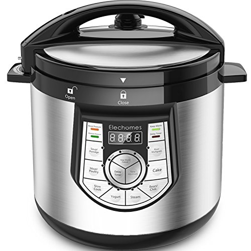 12-in-1 Pressure Cooker Elechomes 1000 W 6 Qt Multi Use Deal (Large Image)