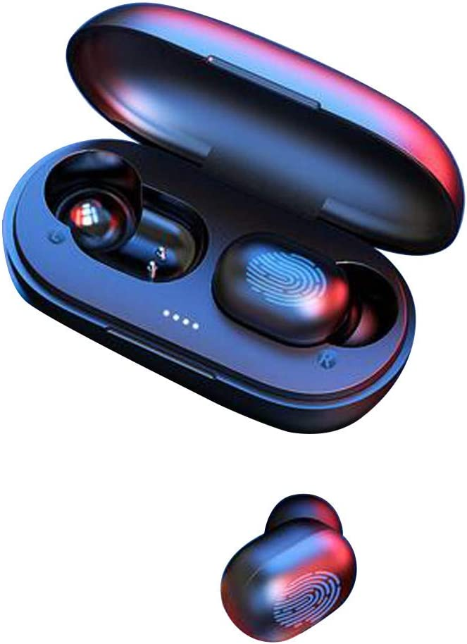 BOOMdan True Bluetooth 5.0 Wireless Earbuds with Wireless Charging Case IPX6 Waterproof high-Fidelity Stereo Music Playback Built in Mic Magnetic Charging for Sport