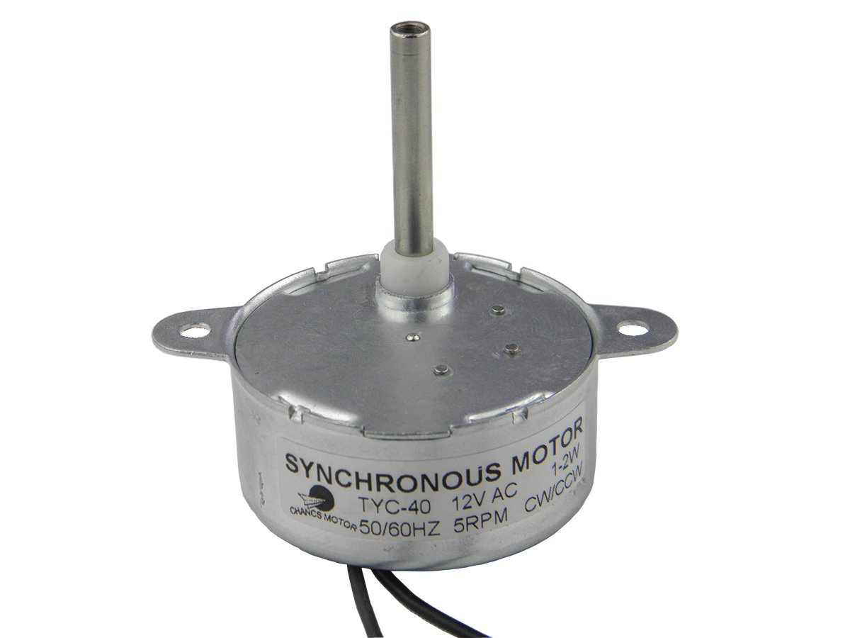 TYC-40 Moteur synchrone AC 12V (Courant Alternatif ) 5RPM CW/CCW Longueur de l'arbre 36mm CHANCS