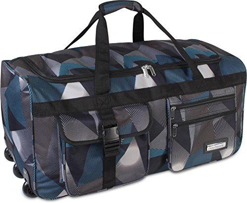 Reisetasche Jumbo Big-Travel mit Rollen riesige XXL V4 5. Generation NEU von normani® Farbe Abstract
