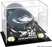 Philadelphia Eagles Super Bowl LII Champions Golden Classic Mini Helmet Logo Display Case - Fanatics Authentic Certified