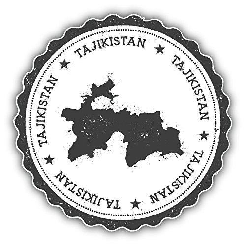 Review Tajikistan Map Grunge Rubber