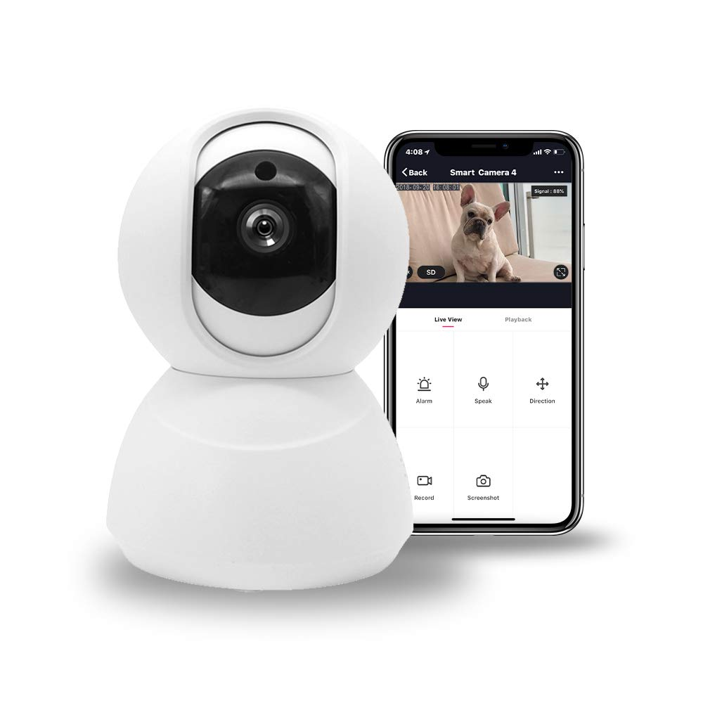 Pet Camera, Alexa Security IP WiFi Home 720P HD Camera by LUMIMAN, Wireless Baby Monitor with Camera, Micro SD Recording LM120-UK-1P