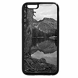 iPhone 6S Plus Case, iPhone 6 Plus Case (Black & White) - Calm emerald lake
