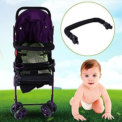 Zerodis Negro Carro Ajustable Cochecito de beb/é Manillar Barra Manillar Reci/én Nacido Infantil Cochecito Parachoques Parachoques Barra de Carro Accesorios